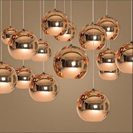 Energy Saving Shades Australia - D15 20 30 40 50cm Decorative Tom Copper glass Shade Copper gold Pendant Light Lamp Lighting Nordic silver gold copper glass suspension lamps