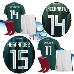 65961416027 ... mexico 2018 world cup kids + socks soccer jerseys i8 19 chcharito  lozano dos santos layun
