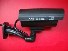 Toptan satış Kablosuz Ev Güvenlik Sahte Kamera Simüle video Gözetim kapalı / açık Gözetim Kukla Ir Led Sahte Dome kamera