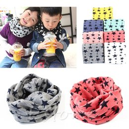 Wholesale Hot Selling PC Baby Winter Warm Boys Girls Stars Collar Scarf Children O Ring Neck Scarves