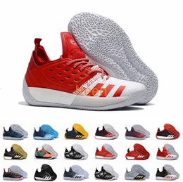 4b8b68d4031846 Harden Vol.2 Men Basketball Shoes Maroon BHM Black Gold Pioneer Home Red  White James Harden Shoes Sneakers Size 7-11.5 with box
