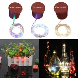 bottle lights NZ - 1M 10LED Bottle Stopper Lamp Creative Silicone Cap Fairy Light 3 Mode Romantic Copper Wire String Atmosphere Lamp for Home Bar Party