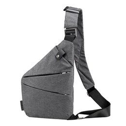 $enCountryForm.capitalKeyWord NZ - Unisex Anti-Theft Men'S Messenger Bag Shoulder Bags Casual Functional Men Chest Pack Dual Compartmemt Sling Bag Daily Pack for M