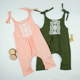 Cute suspenders for girls online shopping - 2 Colors INS New Infants Girls Lacework Overalls Baby Girls Cute Suspenders Shoulder Lace Up Haren Pants For M Z11