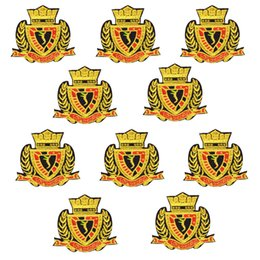 EmbroidEry clothEs stickErs online shopping - 10PCS embroidery badge patches for clothing iron fashion crown patch for clothes applique sewing accessories stickers on cloth iron on patch