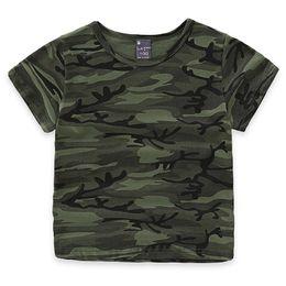 $enCountryForm.capitalKeyWord NZ - Children Boys Girls Summer Cotton Short Sleeve T -Shirt Tee Tops Clothes Kids Toddler Camouflage Print Tshirt T Shirt Clothing