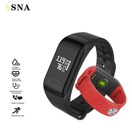 smart watch f1 2019 - F1 Smart Band Blood Oxygen Blood Pressure Watches Fitness Sport Bracelet Heart Rate Monitor Call SMS Reminder discount s