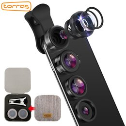 $enCountryForm.capitalKeyWord NZ - wholesale Mobile Phone Lens Wide Angle Fish Eye Clip-on Alloy Metal Cell Phone Camera Lens Kit 15X Macro For iPhone Lens with Case