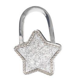 Handbag Hook Bag Holder Stars Hook Purse Hanger Table Handbag Holder Bag  Purse For Table Foldable Desk Hanger