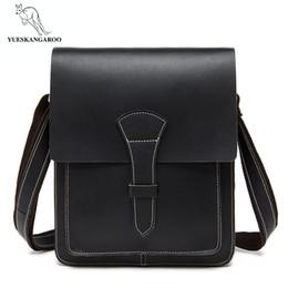 Mens Cross Body Bags NZ - 2018 Hot Sale Men Bag Genuine Leather Solid Men Messenger Bag casual business Crossbody vintage fashion mens cross body