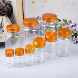 Pets medicine online shopping - 15 ml transparent PET medicine refillable bottle capsules liquid packing bottle with aluminum cap F20173893