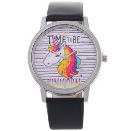 $enCountryForm.capitalKeyWord UK - 9 Style Lovely Cartoon Unicorn Watch Women Leather Strap Simple Casual Watches Ladies Quartz Wrist Watches for Boys Girls Children Xmas Gift