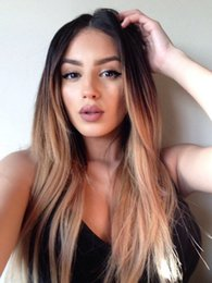 1b Straight Hair Australia - Lace Front Human Hair Wigs Brazilian 1B 27Color straight Full Lace Wig Pre Plucked With Baby Hair 130% Remy
