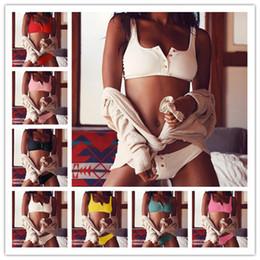 a637b6c89f Bursting Fashion Swimwear Lady Gather Together Button Women Split Type Bikini  Sexy Swimsuit Two Piece Suits Pure Color 27yx W
