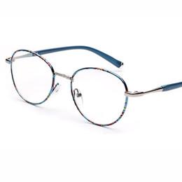 ce2d4078056 2018 New Vintage Metal Round Eyeglasses Frame Men Women Optical Plain  Mirror Eye Glasses Frame for Myopia Glasses oculos de grau