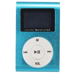 mini clip mp3 player bluetooth 2019 - Mini USB Clip MP3 Music Media Player LCD Screen Support 32GB TF Card Rechargeable Portable Pocket cheap mini clip mp3 pl