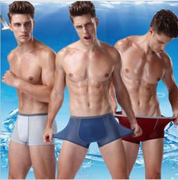 $enCountryForm.capitalKeyWord Australia - Top new Men U Convex Design Breathable Underwear Gay Hollow Out Penis pocket Men Boxer Comfortable Modal Sexy Shorts Golden belt Underpants