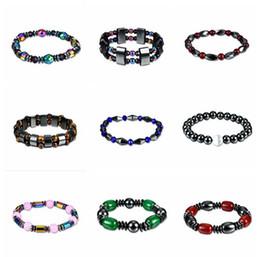 f84acd7e752c JLN Power Beads Hematite Pulsera Piedra de Cristal Nueva Salud Perder Peso  Energía Pulseras Para Hombres Y Mujeres Regalo