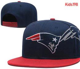 685a8ab4180 wholesale Children kids Adjustable cap Fashion Embroidery Patriots Snapback  Hats Outdoor Summer Football Caps Sun Visors Cheap Boys AD hat
