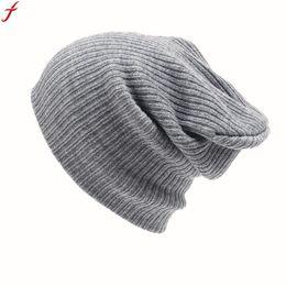 7f4f987cdc768 2016 Winter Beanies Warm Unisex Women Men Knit Crochet Cap Beanie Hip-Hop  Hat For Women Men gorros mujer invierno Touca 25
