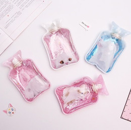 $enCountryForm.capitalKeyWord NZ - hot water bag cartoon mini transparent small size Colorful quicksand water injection kettles for adult female Mini warm baby body