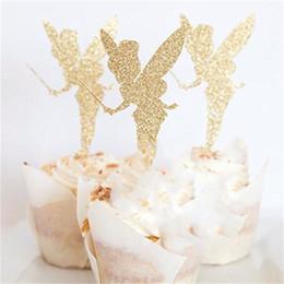 Cake plug online shopping - Pick Angel Fairy Shape Brand Glitter Paper Wedding Birthday Party Favor Decoration Cake Topper Ballet Lovely Dessert Plug rb jj
