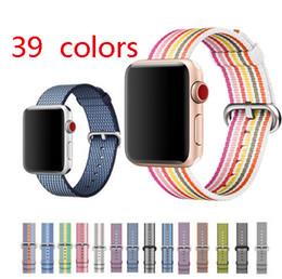 Weave Wrist Watch Australia - 39 colors woven nylon strap for apple watch band 38 40mm 42 44mm bracelet wrist belt watchband for iwatch 4 3 2 1