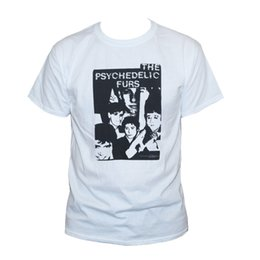 Tee Shirts Fur Canada - Free shipping 2018 THE PSYCHEDELIC FURS T Shirt New Order Cure Modern English Art Rock New Wave Tee Print Summer Tops Tees