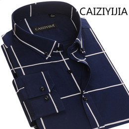 $enCountryForm.capitalKeyWord Australia - CAIZIYIJIA Mens England Style Silm fit Long Sleeve Dress Shirts High Quality Cotton Imported-china Striped Camisa Masculina