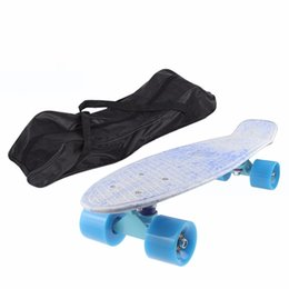 $enCountryForm.capitalKeyWord UK - 2017 60cm Long Black Skateboard Carrying Bag Nylon Skate Board Peny Board Longboard Scooter Handbag Bag Backpack