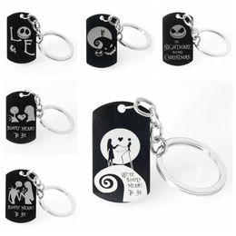 $enCountryForm.capitalKeyWord NZ - Halloween Keychains Stainless Steel Black Pumpkin Lantern Printing Keyrings Men Women Gift New Arrival Fashoin Jewelry Wholesale