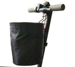 Accesorios de piezas, bolso delantero EVA + Soporte de teléfono + Cesta + Bolsa de manipulación con 3 ruedas + luz LED + Pegatina de pedal + espejo para scooter mijia eletric