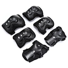 Knee Skateboard Australia - quality 6pcs set Kids Elbow Knee Pads Wrist Protector Skating Protective Gear Sets skate Racing Cycling Skateboard Protect for kids