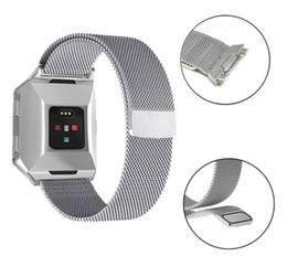 Discount smart watch for lg Magnetic Milanese Loop Wrist strap Link Bracelet Stainless Steel Band for Fitbit ionic Adjustable large Small belt