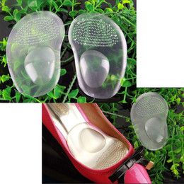 gel foot padding Canada - 2 in 1 Arch Support Cushion Half Insole Silicone Gel Front Feet Shoe Pads