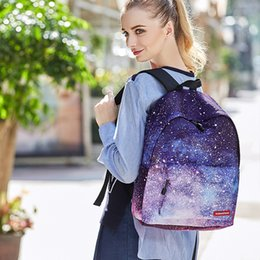 Starry Sky Backpack NZ - RUNNINGTIGER 2017 Harajuku Starry Sky Canvas Women Rucksack School Bag Backpacks for Teenage Girls Casual Travel Bags Schoolbag