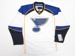 6fb23bc91 LOUIS BLUES AWAY WHITE PREMIER 7185 HOCKEY JERSEY stitch add any number any  name Mens Hockey Jersey XS-5XL