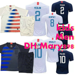 383d41676 Best quality 2018 2019 USA PULISIC Soccer Jersey kids 18 19 DEMPSEY BRADLEY  ALTIDORE WOOD America Football jerseys men United States Shirt
