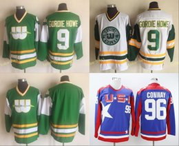 whalers hockey jersey 2019 - Hartford Whalers Jersey 9 Gordie Howe Blank No  Name Green White ee2b89234