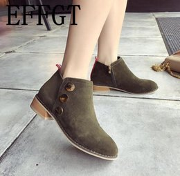 $enCountryForm.capitalKeyWord NZ - wholesale 2018 New Women shoes Boots Fashion Suede Warm Winter Ankle Boots Slip on Shoes Woman Button decoration Zipper booties H888