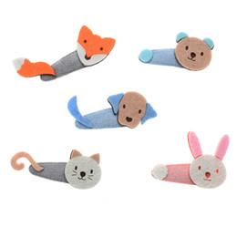 Chinese  kids girl Animal hairpin cat dog rabbit bear fox hair clip bebes fille children hair accessories manufacturers