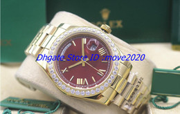 $enCountryForm.capitalKeyWord Canada - 2018 New watches men 41mm 18038 red Dial champagne tapestry dial Yellow Gold watch automatic watch mens dress Wristwatches smll04