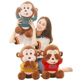 $enCountryForm.capitalKeyWord NZ - 1pc 45 55cm 3 Patterns Cute monkey plush stuffed toy Lover sitting monkey doll Crystal super soft fabric Valentine's Day present