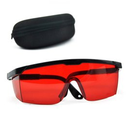 $enCountryForm.capitalKeyWord Australia - Red Protection Goggles Laser Safety Glasses 190nm to 540nm Laser Protective Eyewear With Velvet Box Square Shape