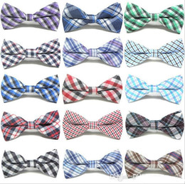 $enCountryForm.capitalKeyWord NZ - Children Fashion Formal Cotton Bow Tie Kid Classical Striped Bowties Colorful Butterfly Wedding Party Bowtie Pet Tuxedo Ties
