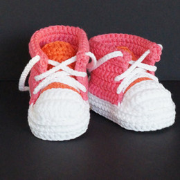$enCountryForm.capitalKeyWord NZ - Handmade Baby Boys Crochet Booties Knitted Sport Shoes Soft Sole Indoor Casual Shoes Cotton
