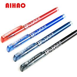 Stationery Australia - 12Pcs  Lot Aihao Erasable Pen Unisex 0.5Mm Pens Magic Erasable Pen Gel Pen Stationery Office &School Supplies