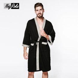 c685ab5be9 Sexy waffle cotton male robes bathrobes long-sleeved simple high quality hotel  Sauna SPA bathrobes for men roupao Plus size New