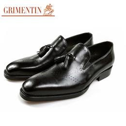 $enCountryForm.capitalKeyWord NZ - GRIMENTIN Hot sale brand mens loafers genuine leather slip on tassel casual men dress shoes fashion designer business wedding mens shoes SE