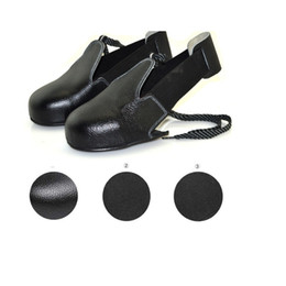$enCountryForm.capitalKeyWord Canada - wholesale New 1pair lot Man woman safety shoes real leather steel overshoes woker shoes cover Visitor overshoes toes protection